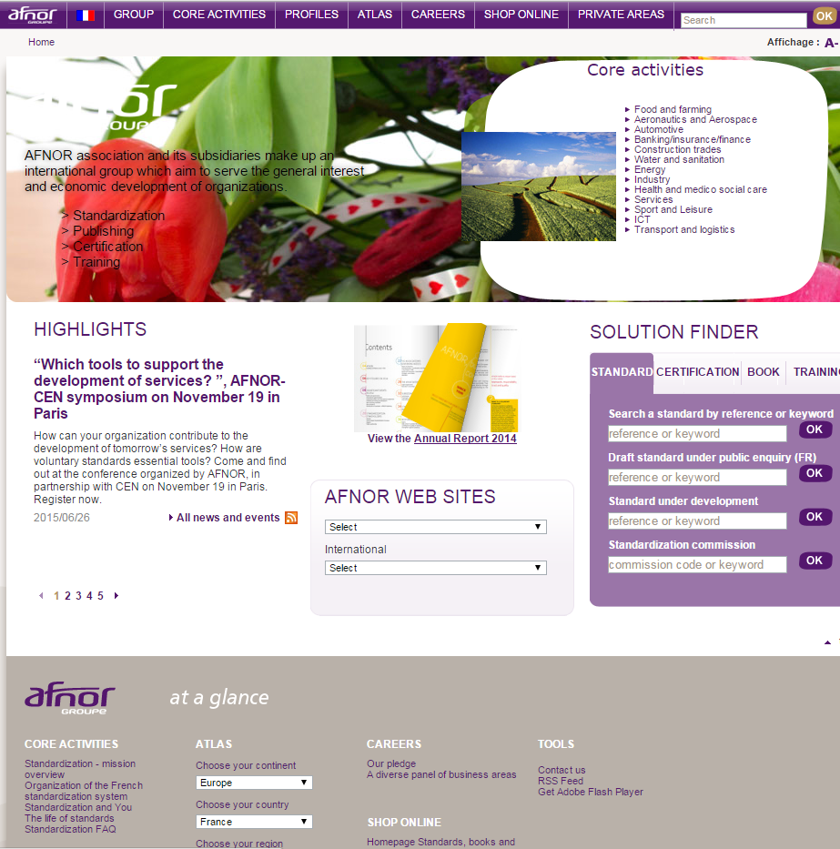 Afnor web